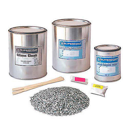 Supercoat Liquid Flooring Standard Kit with Glaze Coat - (Multiple Colors)