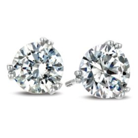0.25 CT. T.W. Round-Cut Diamond Earrings in 18K White Gold (I, SI2)