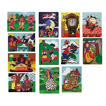 Nursery Rhyme Puzzles - Set of 12
