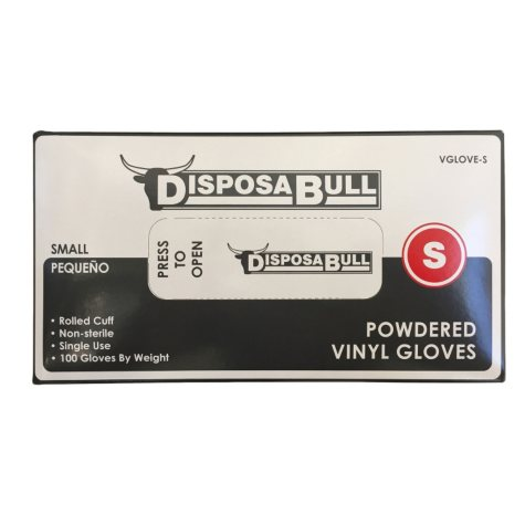 DisposaBull Powdered Vinyl Gloves, Choose Your Size