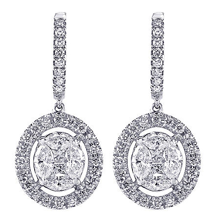 124b69549 S Collection 1.65 CT. T.W. Diamond Composite Drop Earrings in 14K ...