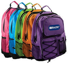 "Bazic 17"" Backpacks Odyssey - Bright Color - 20 pk."