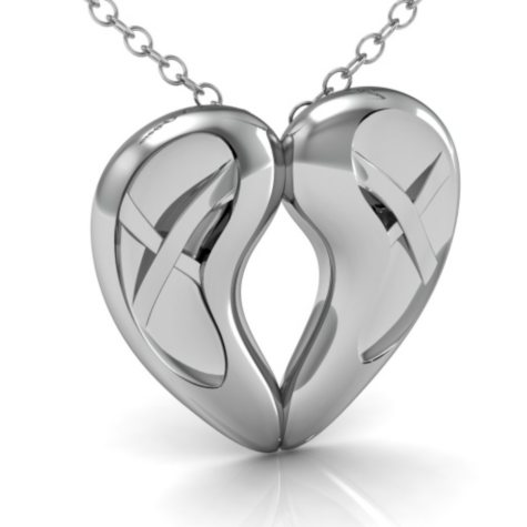 Lex & Drea™ Dancing Hearts Sterling Silver Pendant