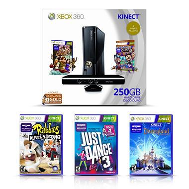 Xbox 360 250GB Kinect Value Bundle with Bonus Games