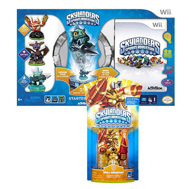 Skylanders Starter Kit with Exclusive Drill Sergeant Character Pack - Exclusive Bundle - Wii