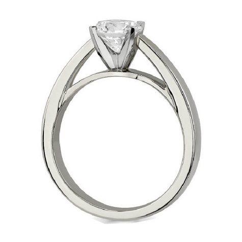 0.26 ct. Round-Cut Diamond Solitaire Ring 14K White Gold (E, SI1)