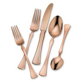 Hampton Signature Refined Copper 20-Piece Flatware Set