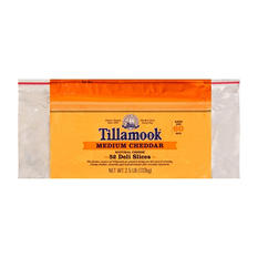 Tillamook Sliced Medium Cheddar Cheese (2.5 lb.)