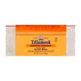 Tillamook Sliced Medium Cheddar Cheese (2.5 lb.)