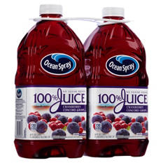 Ocean Spray 100% Juice, Cranberry Concord Grape (64 fl. oz. bottles, 2 ct.)
