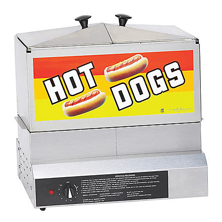Gold Medal® 8007DE Hot Dog Steamer