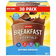 Carnation Breakfast Essentials Nutritional Drink, Chocolate (30 ct.)