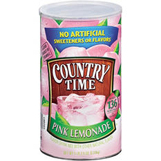 Country Time Pink Lemonade Mix - makes 34 qts.