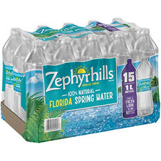 Zephyrhills 100% Natural Spring Water (1 L bottles, 15 pk.)