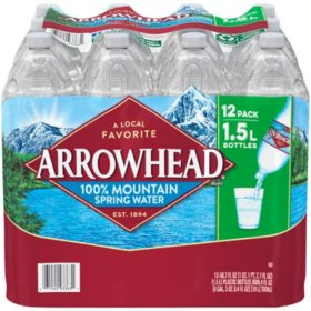 Arrowhead 100% Mountain Spring Water (1.5L / 12pk)