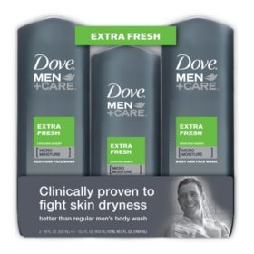Dove Men Care Body And Face Wash Bonus Pack Extra Fresh 2 18 Oz 13 5 Oz Sam S Club