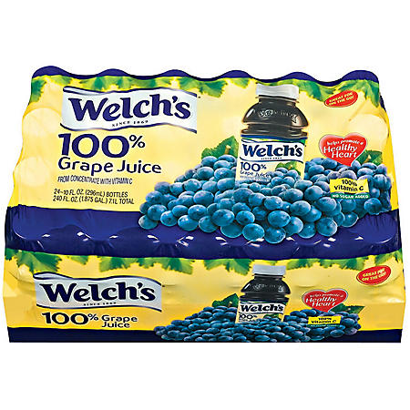 Welch's 100% Grape Juice - 24/10 oz. bottles