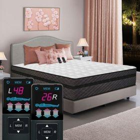 Dual Digital Millennium Box EuroTop Air Bed, Cal King