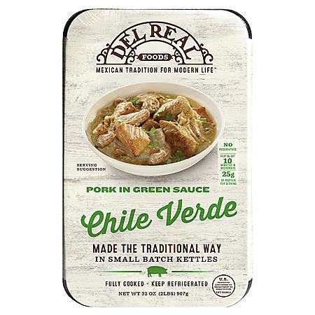 Del Real Pork Chile Verde (32 oz.)