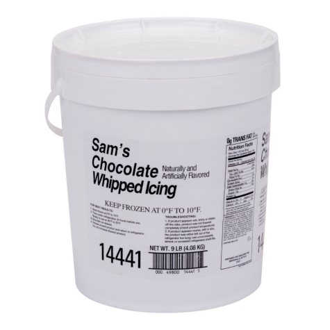 Case Sale: Sam's Chocolate Whipped Icing (9 lbs.)