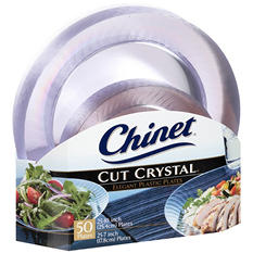 Chinet Cut Crystal Combo Plates (50 ct. - 25 dinner plates and 25 desert plates)