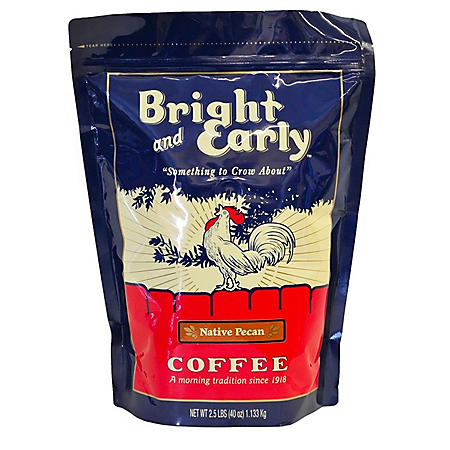 Bright and Early Ground Native Pecan Coffee (2.5 lb.)