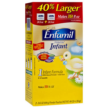 Enfamil - Premium Infant Formula Powder Pouches, 49 oz. - 2 pk.
