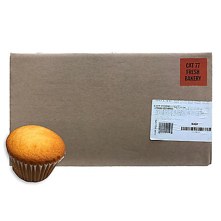 Uniced White Cupcakes, Bulk Wholesale Case (150 ct.)