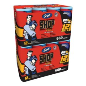 Scott Shop Towel Bundle (24 rolls, 1,320 sheets)