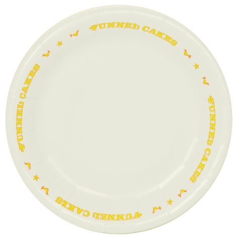 """Funnel Cake Plate - 9"""" - 1,000 ct."""