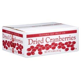 Traverse Bay Dried Cranberries - 4 lb. Box