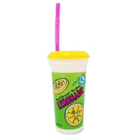 Gold Medal Heavy Duty Lemonade Plastic Cup with Lid & Straw, 32 oz (200 ct.)