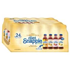 Snapple Diet Tea Variety Pack (20 oz. bottles, 24 ct.)