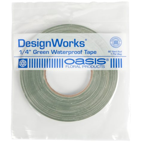 Oasis Green Waterproof Floral Tape - 60 yd. x 1/4 in. (25 ct.)