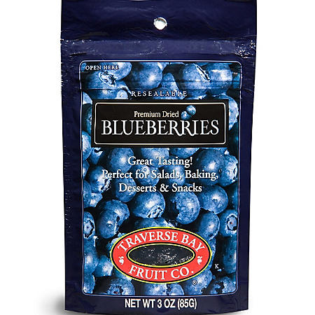 Traverse Bay Fruit Co. Premium Dried Blueberries (3 oz., 12 ct.)