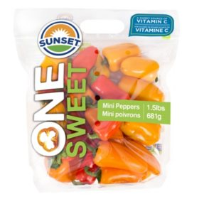Sweet Mini Peppers  (1.5 lbs.)