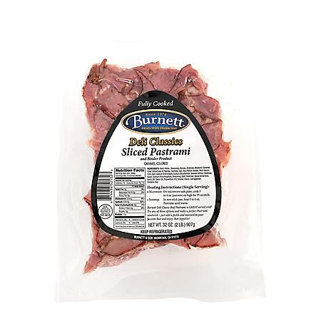 Burnett Sliced Pastrami (2 lbs.)