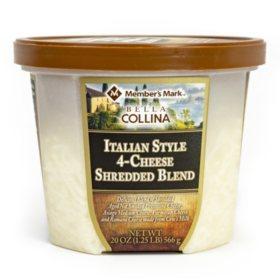 Member's Mark Italian Style 4-Cheese Shredded Blend by Bella Collina (20 oz.)