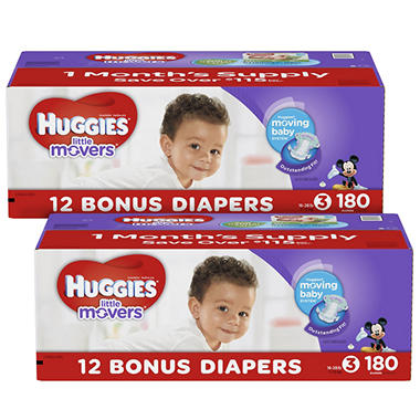 Huggies Little Movers Pick 2 Diaper Bundle (Choose Your Sizes)