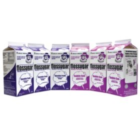 Gold Medal Grape and Bubblegum Flossugar, Combo Pack  (6 ct.)