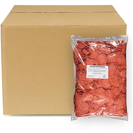 Sliced Pepperoni, Bulk Wholesale Case (25 lbs.)