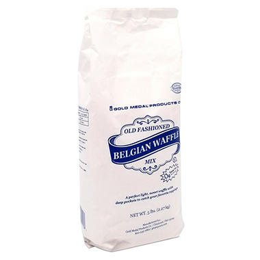 Gold Medal Old Fashioned Belgian Waffle Mix (5 lb. bag, 6 ct.)