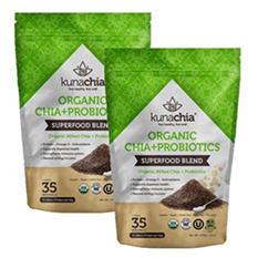 KunaChia Organic Chia + Probiotics (15 oz. bag, 2 pk)