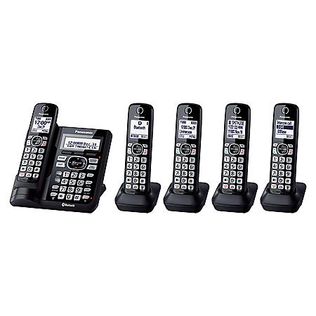 Panasonic Cordless Phone with Link2Cell, Includes 5 Handsets