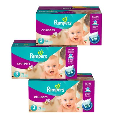 Pampers Cruisers Diaper Pick 3 Bundle (Choose Your Sizes)