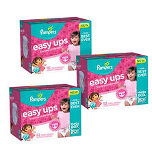 Pampers Easy Ups Training Pants for Girls Pick 3 Bundle (Choose Your Sizes)