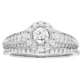 1.0 CT. T.W. Diamond Bridal Set in 14K Gold