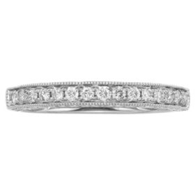 7fe0a698440 .25 CT. T.W. Vintage Diamond Ring in 14K Gold