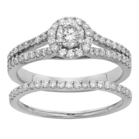 1.0 CT. T.W. Round Diamond Bridal Set in 14K Gold