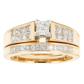 1 CT T.W. Diamond Wedding Ring Set in 14K Gold